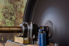 Vintage Rotating Flywheel Royalty Free Stock Image