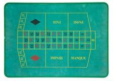 Vintage roulette board stock image