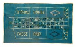 Vintage roulette carpet Stock Photography