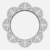 Vintage round baroque frame Royalty Free Stock Photos