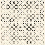 100 vintage round borders. Set with circle frames. Vector round border design element, decorative borders for vintage labels vector illustration