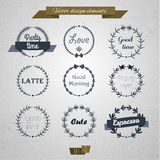 Vintage round elements 02. Vintage round elements and page decoration premium quality collection. Floral design. Vector set Royalty Free Stock Photos