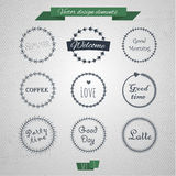 Vintage round elements 03 Royalty Free Stock Image