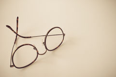Vintage round eyeglasses, vintage style Royalty Free Stock Image