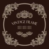 Vintage round frame Stock Images
