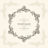 Vintage round frame Royalty Free Stock Images