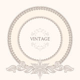 Vintage round frame Stock Photography