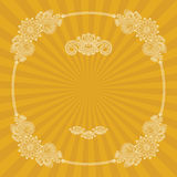 Vintage round frame with floral decoration Royalty Free Stock Photography