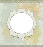 Vintage round frame on gray background Stock Image