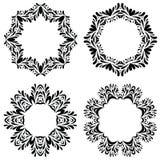 Vintage round frames set. Vector illustration. Royalty Free Stock Images