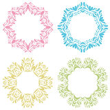 Vintage round frames set. Vector illustration.  Stock Image