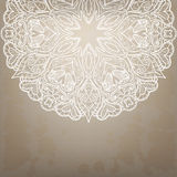 Vintage round lace pattern. Royalty Free Stock Photos