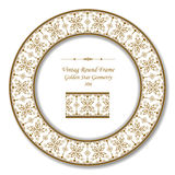 Vintage Round Retro Frame 306 Golden Star Geometry Stock Images