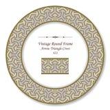 Vintage Round Retro Frame 421 Arrow Triangle Cross Stock Image