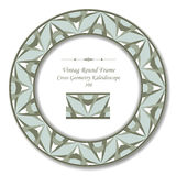 Vintage Round Retro Frame 106 Cross Geometry Kaleidoscope Royalty Free Stock Photography
