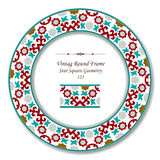 Vintage Round Retro Frame 123 Star Square Geometry Royalty Free Stock Photography
