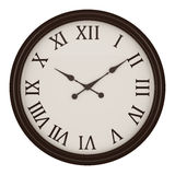 Vintage round wall clock isolated on white Royalty Free Stock Images