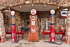 Vintage Route 66 Gas Station Royalty Free Stock Photography