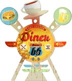 Vintage route 66 Diner sign Stock Photography