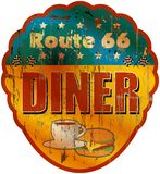 Vintage route 66 diner sign Stock Image