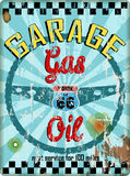 Vintage route 66 garage workshop sign,. Vintage and grungy route 66 garage and gas station workshop sign, vector illustration Royalty Free Stock Image