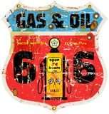 Vintage route 66 gas sign Stock Photo