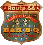 Vintage route 66 restaurant sign Stock Image