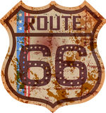 Vintage route 66 road sign, retro style, fictional artwork, grungy vector illustration vector illustration