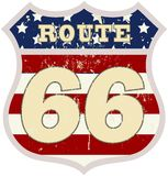 Vintage route 66 road sign Stock Photo