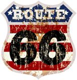 Vintage route 66 road sign Stock Photography