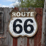 Vintage route 66 sign Royalty Free Stock Images