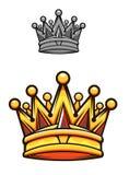 Vintage royal crown Stock Photos