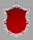 Vintage royal decorative floral frame. Illustration Stock Images