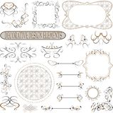 Vintage royal design element. Vector illustration Stock Photo