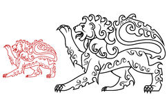 Vintage royal lion Royalty Free Stock Photography