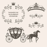 vintage royalty frame with crown Stock Image