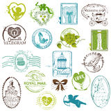 Vintage Rubber Stamp Collection Stock Image
