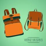 Vintage rucksack Royalty Free Stock Image