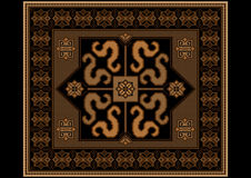 Vintage rug in brown and black shades Royalty Free Stock Images