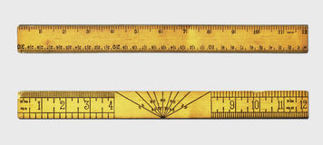 Vintage rulers Stock Photo