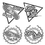 Vintage run club emblems Royalty Free Stock Images