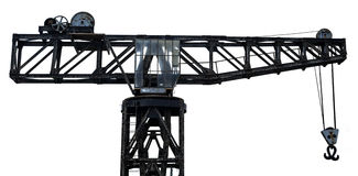 Isolated Vintage Harbour Crane Royalty Free Stock Photography