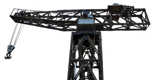 Isolated Vintage Harbour Crane Stock Images