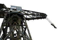 Vintage Harbour Crane Stock Image