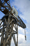 Vintage Harbour Crane Stock Photo