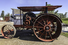 Vintage running farm vehicle Stock Images