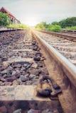 Vintage rural de voies ferrées Photo libre de droits