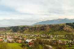 Vintage Rural Village In The Carpathian Mountains Royalty Free Stock Photos