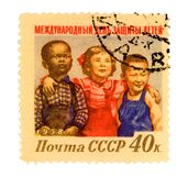 Vintage Russia Postage Stamp Stock Photography