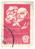 Vintage Russia Postage Stamp Stock Image